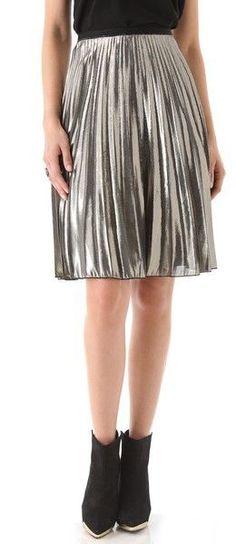 Rachel Roy Sunburst Gold Silver Skirt 2 | eBay