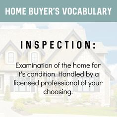 Getting a home inspection done is so important when buying a home. Even a newer home. This is a huge investment. You want to know it's structurally sound by a licensed professional. A good Buyers Agent will ensure there is a clause making the offer c Real Estate Buyers, Real Estate Career, Real Estate Business, Real Estate Tips, Real Estate Investing, Real Estate Marketing, Real Estate Quotes, Real Estate Humor, Lead Generation