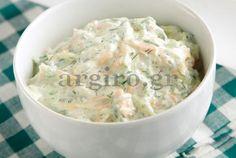 kolokithosalata me karoto Food Categories, Cheeseburger Chowder, Potato Salad, Salad Recipes, Dips, Recipies, Cooking Recipes, Eat, Ethnic Recipes