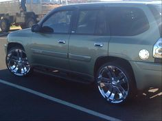 Recently sold my 2002 Envoy and bought this 08 Saab AWD. I kept the SS Reproductions and put some new Pirelli Scorpions on them. Chevy Trailblazer Ss, Gmc Envoy, Chevy Girl, Jeep Truck, Jeeps, Trucks, Cars, Vehicles, Collection
