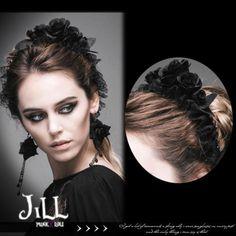 Goth-Visual-Aristocrat-victorian-overlapping-rose-bonnet-headband-AS024