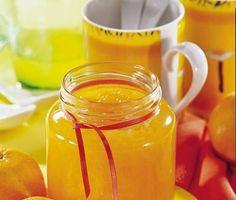 Pomerančový džem 1 kg pomerančů 350 g kryst cukru 1 x balení Dr. Jelly Cupboard, Jam And Jelly, Home Canning, Allrecipes, Herbalism, Kimchi, Food And Drink, Smoothie, Mason Jars