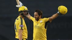 Hampshire's Shahid Afridi hits the fastest T20 Blast hundred of 2017 as he reaches his century off 42 balls during his side's crushing 101-run quarter-final win over Derbyshire. MATCH REPORT: Afridi ton takes Hants to Finals Day Available to UK users only.  Source link...