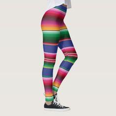 Cinco de Mayo Serape Blanket Pattern Leggings Size: M Color: Dark Sea Green / Rosy Brown / Brown. Cute Leggings, Girls Leggings, Colorful Leggings, Best Pajamas, Softest Pajamas, Pajama Day, Colorful Fashion, Ethnic Fashion, Pattern Leggings
