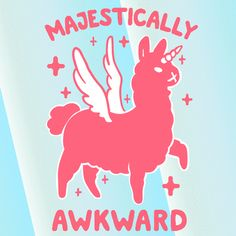 New party member! Tags: gif awkward unicorn llama magical majestic lookhuman awk look human it me