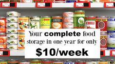 52 Week Guide to Building Your Food Storage | Food storage Storage and Food  sc 1 st  Pinterest & 52 Week Guide to Building Your Food Storage | Food storage Storage ...