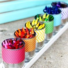 Crayon caddy DIY