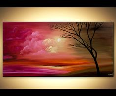 ORIGINAL+Abstract+Contemporary+Tree+Acrylic+by+OsnatFineArt,+$450.00