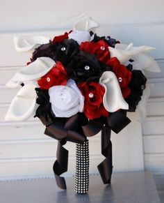 Black and Red Rose and White Calla Lily Bridal Wedding Bouquet & Boutonniere Set by Angel Isabella, http://www.amazon.com/dp/B00DWHV6RE/ref=cm_sw_r_pi_dp_3aY9rb1Z8V4PF