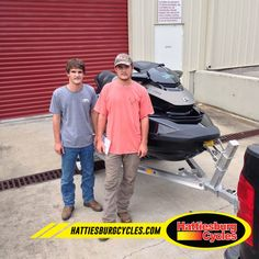 Thanks to Price and William King from Brookhaven MS for getting a 2016 Sea-Doo GTX S 155 and a Magic Tilt trailer. @HattiesburgCycles