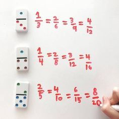 Equivalent Fractions: Don't have fraction cards? Dominoes make a great substitute. This no-prep activity makes for an easy math center for writing equivalent fractions in 3rd and 4th grade.