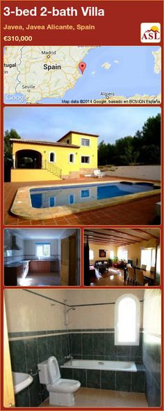 3-bed 2-bath Villa in Javea, Javea   Alicante, Spain ►€310,000 #PropertyForSaleInSpain