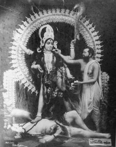 Ramakrishna Paramhansa Feeding Food to Mother Kali