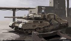 ArtStation - Tank design, E wo kaku Peter