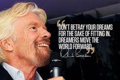 Richard Branson photoquote dreams  #richardbransonquotes