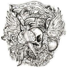 Detailed tattoo Half sleeves and Tattoo ideas on Pinterest