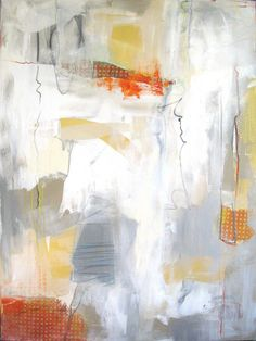 "Gesture 1----48"" x 36""-----Acrylic/Collage on Canvas"