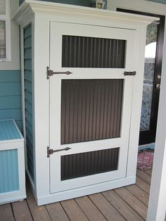 Porch cabinet for yard cushions, etc - could be smaller