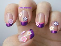 GLITTER ON MY NAILS: FRANCESA FLORAL / FLORAL FRENCH