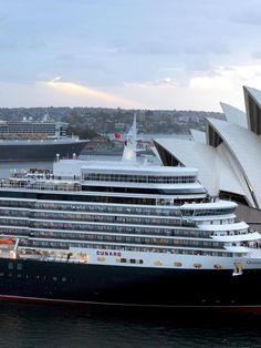 Queen Elizabeth and Queen Mary 2 Sydney Harbour