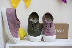 Nuevas zapatillas de loneta BERRI de IGOR. Colección Primavera/Verano 2016  #igor #igorshoes #shoes #madeinspain #hechoenespaña #kids #zapatillas #moda