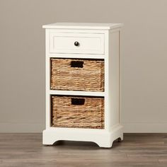 Great for Santa Cruz Solid Wood 3 Drawer End Table by Beachcrest Home top rated furniture sale from top store Drawer Storage Unit, Wood Storage Bench, Storage Cabinets, Wicker Basket Drawers, Wood Drawers, How To Store Shoes, End Tables With Storage, Storage Spaces, Solid Wood