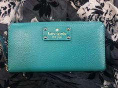Fresh, coastal colours have us longing for sunny summer days – This ocean blue #KateSpade wallet is so stunning & such a gorgeous colour, we'd even use it as a little clutch! #PlatosClosetBrampton #coastal #springstyle //Kate Spade wallet, $50//   www.platosclosetbrampton.com