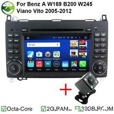 1024X600 Android 6.0 Octa Core 8 Car DVD For Mercedes Benz Sprinter W169 W245 W906 Viano Vito W639 4G WIFI GPS Navigation Radio