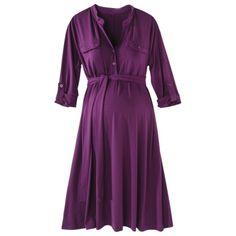 Target Dress Merona® Maternity 3/4-Rolled Sleeve Shirt Dress - Assorted Colors