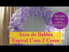 ARCO DE BALÕES - Como fazer arco de balões espiral de 2 cores - SEM ESTRUTURA - YouTube