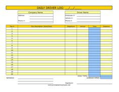 Driver Timesheet Printable Time Sheets, free to download and print