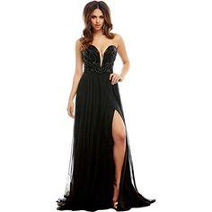 Mac Duggal Womens Chiffon Prom Formal Dress Black 2