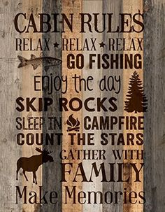 P. Graham Dunn ''Cabin Rules'' 15.5'' x 12'' Distressed Wood Plank Wall Plaque P Graham Dunn http://www.amazon.com/dp/B011RXVTTE/ref=cm_sw_r_pi_dp_9WXAwb1KEKRTE