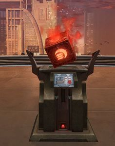 Dark Datacron (Strength) SWTOR Strongholds technological decoration in Star Wars: The Old Republic. The Old Republic, Sith, Travel Posters, Strength, Old Things, Star Wars, Cosplay, Decorations, Retro
