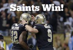 New Orleans Saints win! Saints beat the Panthers 31-13 to improve to 10-3 #Saints