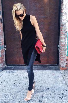 NYFW Street Style, Celine Box Bag