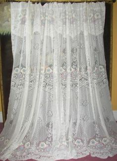 French Country Lace Curtains | ... French Country Cottage Victorian Chic  Net Floral Lace