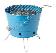 bbq, grill, cook, cooking, cooking tools, blue, outdoor grill, camping, camp, camp grill