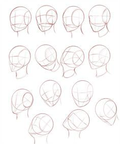 Heads Tutorial Link by Ecchi-Senshi on DeviantArt Drawing The Human Head, Human Anatomy Drawing, Drawing Heads, Human Figure Drawing, Anatomy Art, Head Anatomy, Face Proportions Drawing, Face Drawing Reference, Art Reference Poses