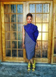 Designer dress in two shoeshoe prints African Attire, African Fashion Dresses, African Dress, African Design, African Style, African Traditional Wear, Wedding Prep, Wedding Outfits, Dress Designs