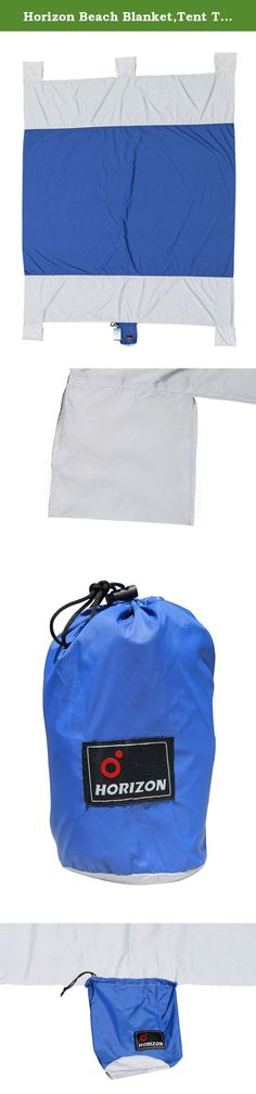 Horizon Beach Blanket,Tent Tarp,Camping Tarp (Blue/Grey). PRODUCT DESCRIPTION 《p》 Horizon Beach Blanket is the necessary accessory for a perfect day at the beach! It is big enough for a large company of people, but very compact and light when folded into a compression bag. Take it with you on your journey and you will barely notice it until it is actually unfolded on the beach! Our beach blanket has the best value for its price on the market. It's biggest advantages are HUGE size of the...