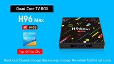 H96 H2 MAX RK3328 4GB RAM 64GB ROM 5G WIFI Bluetooth 4.0 USB3.0 Android 7.1 TV Box with Time Display Android Box, 4gb Ram, Photography Camera, Arduino, Quad, Wifi, Bluetooth, Display, Electronics