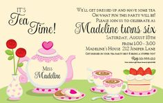 71 Best Tea Party Invitations Images Invitations Dream Wedding