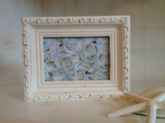 Creamy White Ornate Frame White Scroll Frame Fancy by NotJustSigns, $15.00
