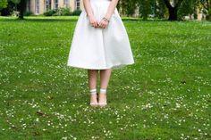 White Topshop Midi Skirt