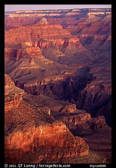 Temples at Dawn from Yvapai Point. Grand Canyon National Park, Arizona