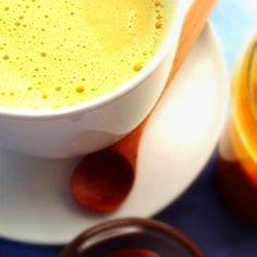 "Haldi Ka Doodh (Hot Turmeric Milk) | ""Great taste! This is a very relaxing soy milk drink! I will be drinking more of this!"""