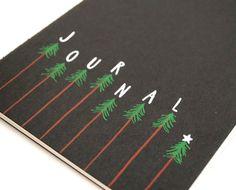 Evergreen Tree Journal . Large Moleskine Cahier . Handwritten . Black Paperback. $18.00, via Etsy.