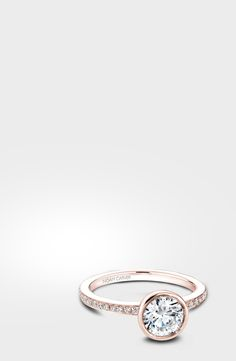 This Noam Carver engagement ring in rose gold is the perfect start to a beautiful marriage. Noam Carver model# B095-02R http://noamcarver.com/details.asp?SKU=B095-02WM-100A