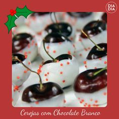 Cerejas com Chocolate Branco